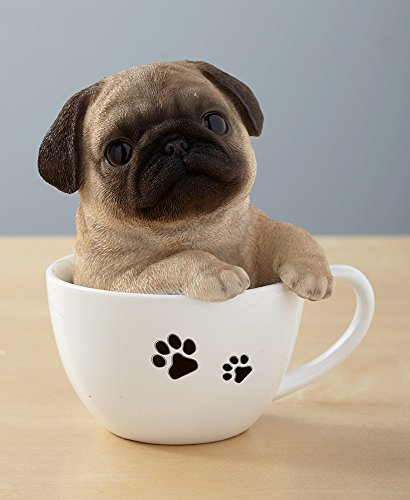 The Lakeside Collection Teacup Pups - Pug