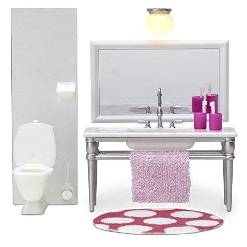 Lundby Smaland 1:18 Scale Dollhouse Bathroom Furniture Playset