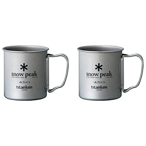 Snow Peak Titanium Single Wall Cup / Mug 450 - 2 (Snow Peak Titanium Folding Cup)