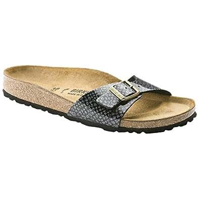 Birkenstock Arizona Birko Flor Womens Sandals Magic Snake Black