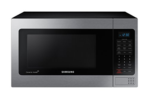 Samsung MG11H2020CT 1.1 cu. ft. Countertop Grill Microwave Oven with Ceramic Enamel Interior, Black by Samsung
