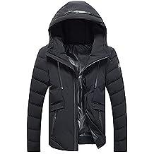 Clearance! Sunfei Men Winter Warm Padded Coat Hoodie Hooded Zip Slim Jacket Outwear Wind Coat Down jacket