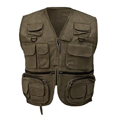 Frogg Toggs Cascades Classic 50 Fly Vest, Color: Stone (Fv33101-05)