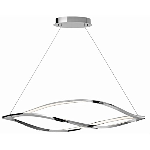 Meridian Pendant Lamp (Elan 83385 3 Light 61.2W Meridian Pendant, Chrome)