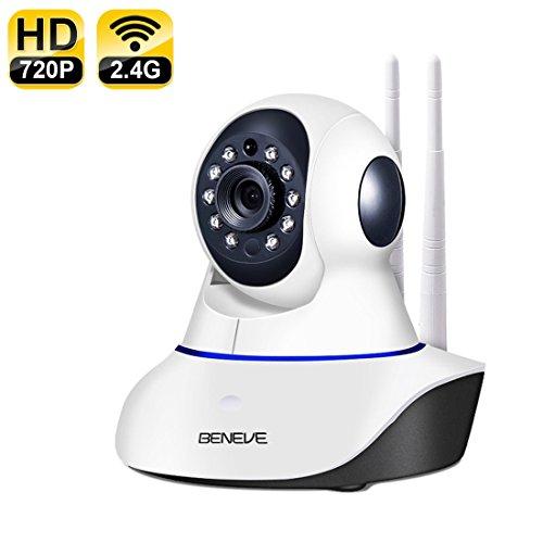 Beneve Cámara IP WiFi de Seguridad,inalámbrica Cámara de Seguridad para el hogar HD 720P Soporte Visión Nocturna por...