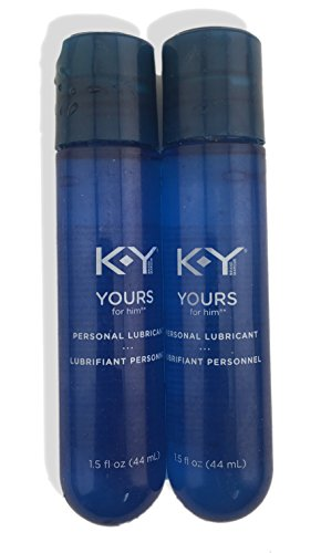 2 Pack of KY Mens Yours Personal Lubricant Set, 1.5 fl Oz Each (Ky Heating)