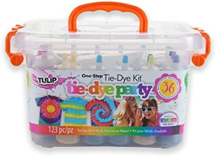 Tulip One-step Tie-Dye Party Kit, Ideal for Fashion DIY Projects and Party Activities, 14 Bright Colors, 18 Bottles
