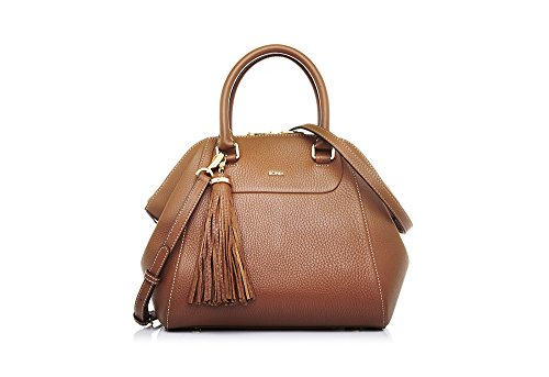 bonia-womans-brown-guilietta-satchel-with-dual-handle-strap-m-one-size