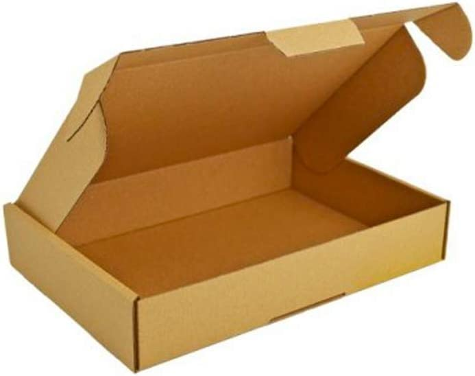 Cartón 245x175x50mm Alta calidad 3 capas Cartón Almacenamiento en movimiento Paquete de almacenamiento cartón duradera Caja de moda documentos Paquete InPost (400): Amazon.es: Oficina y papelería