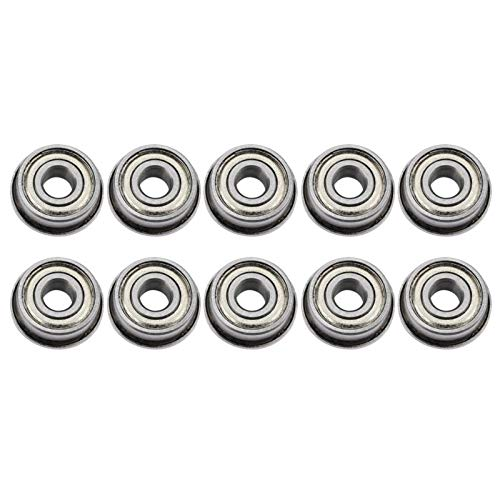 Fevas 10pcs F694ZZ Double-Shielded Miniature Flanged Ball Bearings 4x11x4mm 1