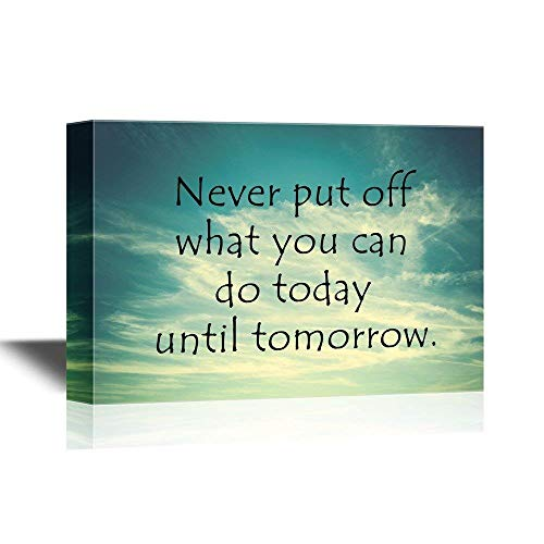 Canvas Printing Wall Art - Motivational Quotes Canvas Wall A