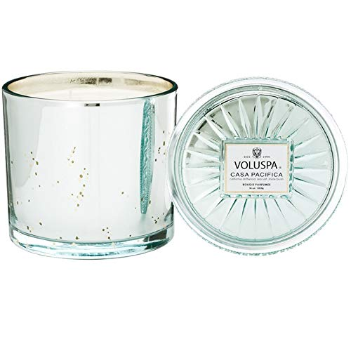 Voluspa Casa Pacifica Grande Maison 3 Wick Glass Candle, 36 Ounces (Casa Candle)