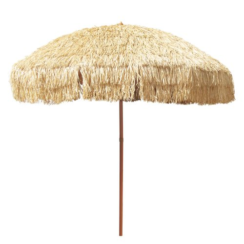 8 Foot Deluxe Tropical Island Thatched Umbrella - UPF 50+ Protection - Perfect for Tiki Bar, Beach, Patio, Deck, Garden, Restaurant, Cafe or Any Place You Want to Add a Tropical Touch Outdoors! -