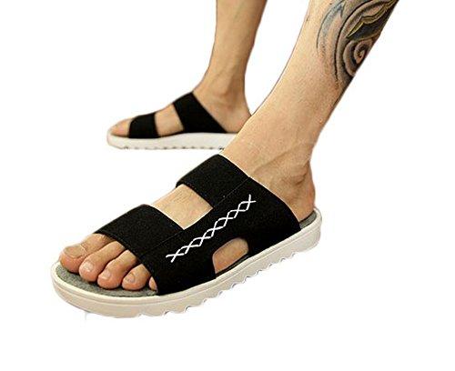 Manliga Tofflor - Mens Sandaler Skor - Sandaler - Svart
