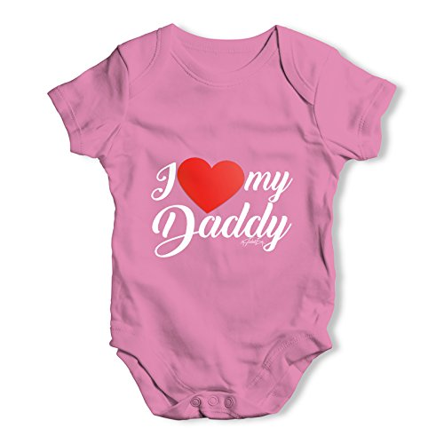 Twisted Envy I Love My Daddy Baby Girl Pink Baby Grow Bodysuit 12 - 18 Months