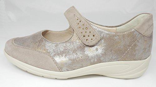 Semler - Zapatos de cordones de Piel para mujer marrón taupe-floral