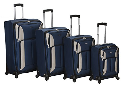- Rockland Luggage Impact Spinner 4 Piece Luggage Set, Navy, One Size