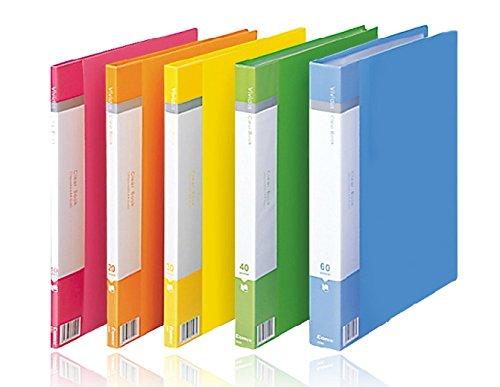 Comix VF20AK Folder for Documents (20 Pocket) A4 235x310x15mm Folder File Folder Document Folder Stationery for Document Folder for Paper Standard Display Book Nw:216g Color Random