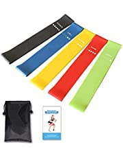 Exercise Resistance Loop Bands Set of 5 Workout Bands Fitness Equipment (Multicolor)