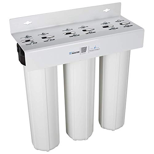 Home Master Whole House Three Stage Water Filtration System with Fine Sediment, Iron and Carbon, Blue from Home Master