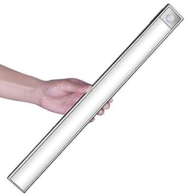 78 Led Under Cabinet Lighting, 1500mAh Rechargeable Energy Saving Motion Sensor Closet Light Wireless Luxury Aluminum Night Lighting for Closet, Kitchen Cabinet, Wardrobe, Stairwell (2 Sensor Modes)