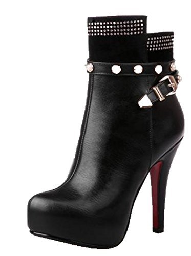 Leather Black Women's Laruise Knight Boot 05O8wZ