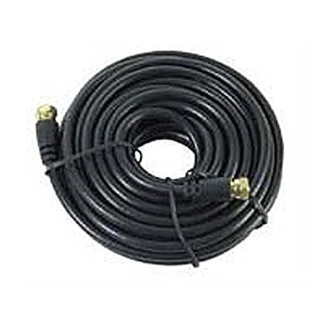 20 FT RG59 Coaxial Cable Black Gold F-Male Each End 20 AWG RG