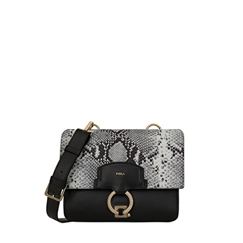 Furla Women's Scoop Small Shoulder Bag Onyx/Argilla Handbag - Furla Accessories