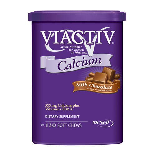 Viactiv Calcium 500 mg Plus Vitamin D And K Chews – Milk Chocolate Bonus Size 130 count For Sale