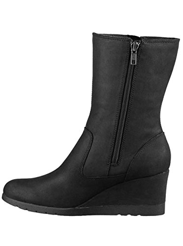 Ugg Women's Joely Waterproof Leather Wedge Boot, 8, Black - Ugg Boots Wedges Women