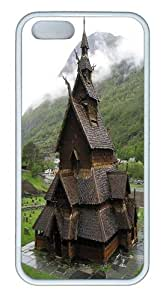 Borgund Church TPU Case Cover for iPhone 5 and iPhone 5s White