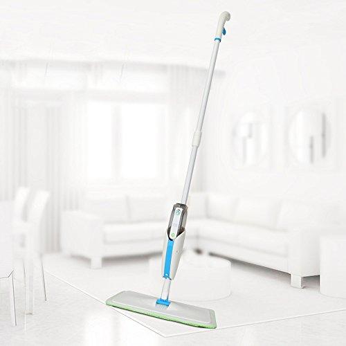 MangGou Microfiber Floor Mop, Professional 360 Degree Microfiber Spray Mop Kit, Handle Cleaning Mop with Hybrid Carbon Microfiber for House, Kitchen, Hardwood, Tile Floor Cleaning by MangGou (Image #1)