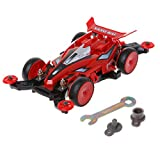 Dabixx Spare Parts for Car Toy, 1:30 DIY Assembly 4WD Racing Car Kits for Kids Children Gift Educational Toy - Red