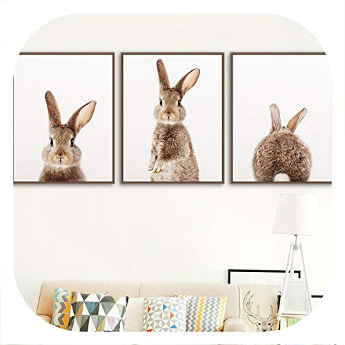 colorful-space Wall Art Canvas Painting Kawaii Rabbit for sale  Delivered anywhere in USA