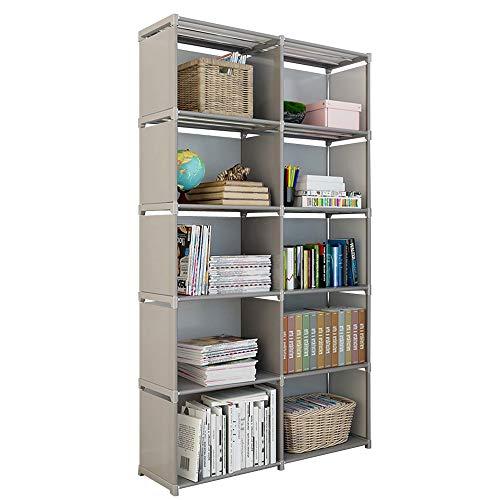 Rerii Cube Organizer Shelf, 10 Cubes Storage Shelves Closet Organizer, Cabinet Bookcase, Bookshelf, Free Standing Shelves for Bedroom Living Room Office 32 x 11 x 61 Inches