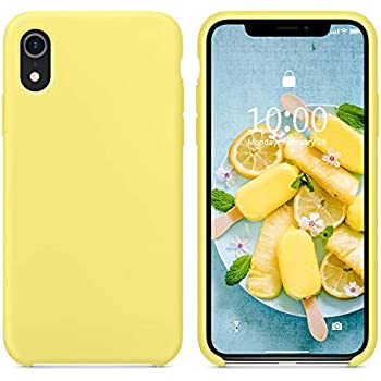 new product 470c5 bcc78 SURPHY Silicone Case for iPhone XR, Slim Liquid Silicone Soft Rubber  Protective Phone Case Cover (with Soft Microfiber Lining) Compatible with  iPhone ...