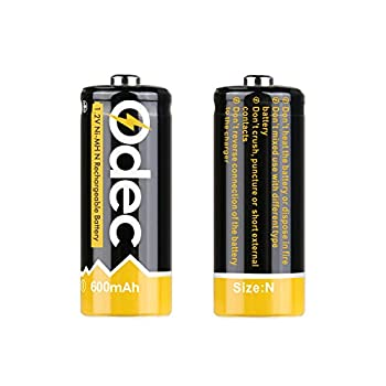 Odec N Battery, N Cell Rechargeable E90 Lr1 910a Um-5 1.5v 600mah Ni-mh For Doorbell, Prayer Wheel, Electronic Toys & More (2 Pack) 1
