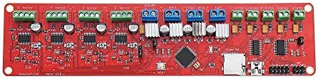 メインボード メインボードのための3Dプリンタ2.0コントロールボード1284P Prusa I3コントローラボード 3Dプリンター統合マザーボードコン (Color : Red, Size : One size)