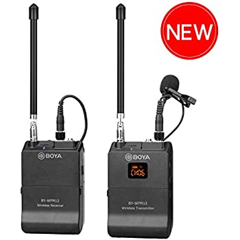 12 channel wireless camera microphone smartphone boya by wfm12 vhf lapel mic system. Black Bedroom Furniture Sets. Home Design Ideas