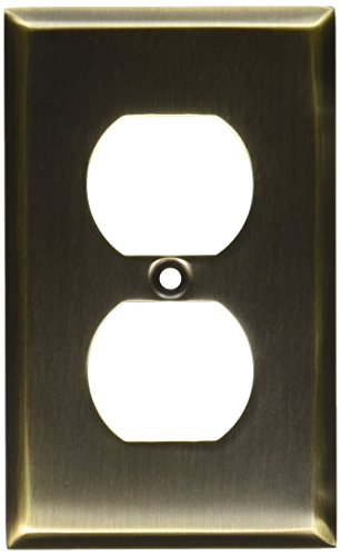 Baldwin 4752.050.CD 4.5-Inch x 2.75-Inch Beveled Edge Duplex, Satin Brass