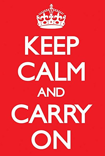 Keep Calm & Carry On Red Poster