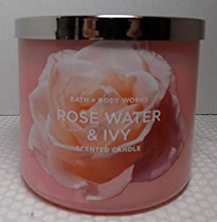 2 Bath /& Body Works Rose Water /& IVY White Ceramic  Candle candles 7 oz