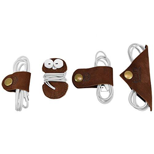 - Cord Keeper (Cord Clam) 4-Pack Handmade by Hide & Drink :: Swayze Suede