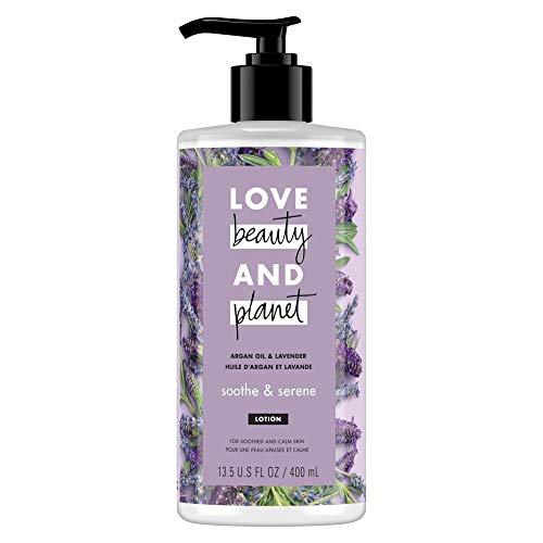 Love Beauty and Planet Argan Oil & Lavender Body Lotion, Soothe & Serene, 13.5 -