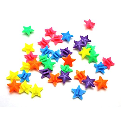 Little Star Bike Wheel Spoke Cololful palla decorazione con stelle colorate 36 pz per confezione Wuudi