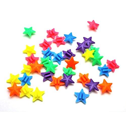 Wuudi Petite étoile Roue de Vélo Spoke Cololful Boule de Décoration avec Coloré Étoiles 36Pièces par Sachet