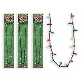 Lotsa Lites Christmas Holiday Flashing Light Bulbs Necklace (Pack of 5)