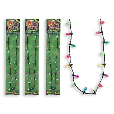 Lotsa Lights Holiday Flashing Light Bulbs Necklace (Pack of 10) by Lotsa Lights (Image #1)