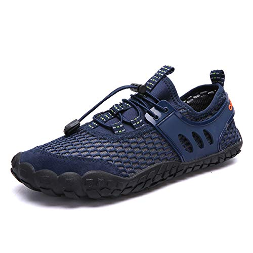 Damaizhang Mens Water Shoes Quick Dry Mesh Barefoot for Swim Diving Surf Aqua Sports Pool Beach Walking Shoes from Damaizhang