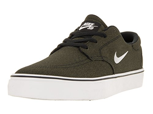NIKE Men's SB Clutch Shoe, Black/Pure Platinum-Medium Olive, 9 D (Mens Nike Sb)
